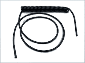 7 core COILED elastomeric  coiled cable with 2 metre straight  tail  <br> ALT/EC702EXT