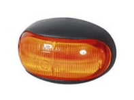 Amber LED Oval Side Marker Lamp - 12/24V-0-170-30