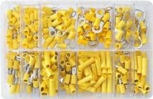 Assorted box containing 260 Popular YELLOW Pre-insulated terminals ALT/AT82-02