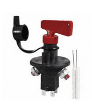 Battery Isolator with Ignition Kill Removable Key and Splashproof Cover - 100A 24V   0-605-90