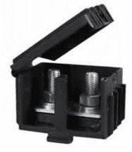 Black Moulded Insulated Housing - for cables up to 25mm²-0-466-50