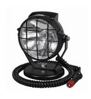 Black Plastic Spot Lamp with Magnetic Base and Cable-0-537-55