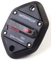 CIRCUIT BREAKER<br> (manual reset) <BR>PANEL MOUNT -<BR> WATERPROOF <BR> Range from 50A - 100Amp