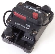 CIRCUIT BREAKER<br> (manual reset) <BR>SURFACE MOUNT -<BR> WATERPROOF <BR> Range from 50A - 200Amp