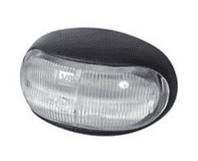 Clear LED Oval Front Marker Lamp - 12/24V-0-170-20