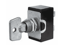 Double-Pole On/Off Switch with Metal Key-0-495-60