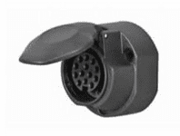 DURITE 13 Pin Plastic Caravan Socket with Fog Cut Out - 12V   0-695-09
