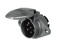 DURITE 24V 7 Pin Alloy Trailer Plug - ISO 1185(24N) 0-477-86