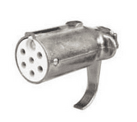 DURITE 24V 7 Pin Metal Trailer Clang Socket - ISO 3731(24S)   0-477-69