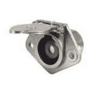 DURITE 24V Single Pin Heavy Duty Metal Clang Socket with Cover  0-477-59