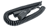 DURITE 7 Core Retractable Polyurethene Cable with 2 x 24N Sockets - 3 Metre 0-717-23