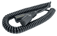 DURITE 7 Core Retractable Polyurethene Cable with 2 x 24N Sockets - 4.5 Metre 0-717-25