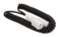 DURITE 7 Core Retractable Polyurethene Cable with 2 x 24S Sockets - 3 Metre 0-717-33
