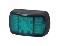 Green LED ABS Marker Lamp with Superseal Plug - 12/24V-0-170-04
