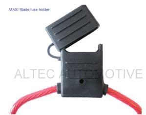 In-line MAXI blade fuse holder (Splashproof)                ALT/FU13-02