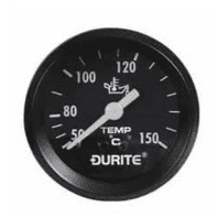 Mechanical Oil Temperature Gauge with 12' Capillary - 52mm-0-533-15