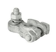 """Negative Battery Lighting Terminals with Vertical 5/16"""" Whitworth Stud, Washer and Nut-2-100-01"""