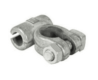 Negative Commercial Battery Terminals - drilled 11.1mm for 60mm² cable-2-388-01