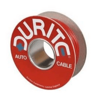 Red/Black Flat Twin-Core Thin-Wall PVC Auto Cable - 2 x 2mm² x 30m-3-953-50