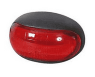 Red LED Oval Rear Marker Lamp - 12/24V-0-170-25