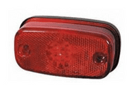 Red LED Rear Marker Lamp with Reflex Reflector and Screw Cable Connections - 24V-0-169-55
