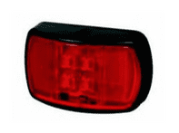 Red LED Rear Marker Lamp with Superseal Plug - 12/24V-0-170-05