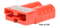 RED  Polycarbonate 2-Pole High Current Connector - 50Amp  pack of 100    0-432-45