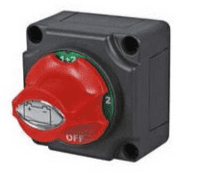 Rotary Marine Battery Isolator Off/1/1+2/2 with Removable Control Knob - 300A 48V  0-605-09