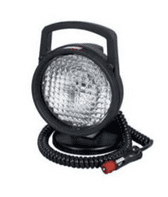 Round, Metal Work Lamp with Rocker Switch, 3M Cable and Plug - Black, 147mm diameter-0-538-56