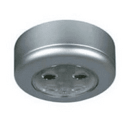 Silver LED Roof Lamp with Switch - 12/24V-0-668-04