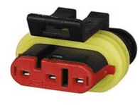 Superseal 1.50mm Female Receptacle Housing - 3 Way-0-011-63