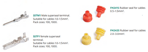 Superseal terminals<BR>Cable seals<BR>Cavity plugs