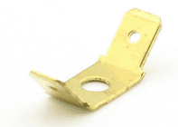 TWO MALE 6.3mm BLADES central hole mount  terminal brass 6.3x0.8mm <br>ALT/T30-305-09