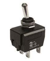 WEATHERPROOF <br>Toggle switch HEAVY DUTY <BR> ON-OFF DPST 20Amp <br>ALT/SW-R13-448F1-1-2G-25