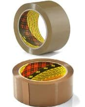 36 Rolls Of Brown SCOTCH 3M Packaging Tape 48mm x 66 Metres Parcel Packing Postal