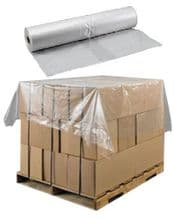 """500 Polythene Pallet Top Base Cover Sheets Size 59x51"""" 25mic Plastic Protection"""