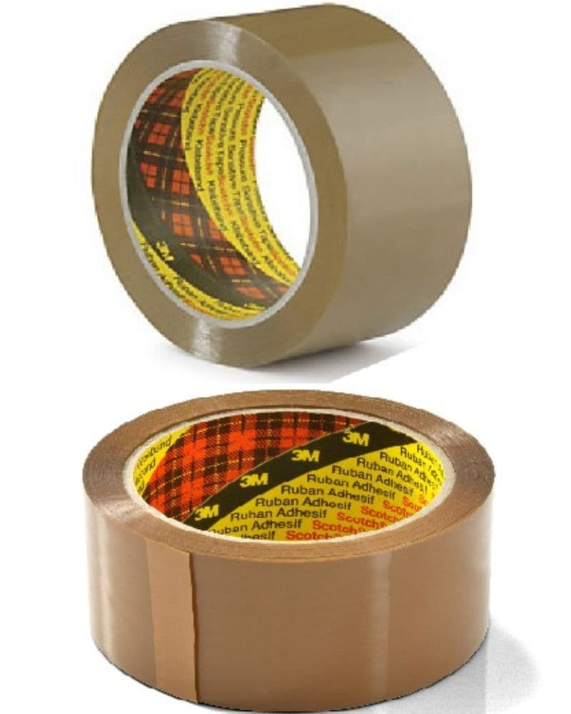72 Brown Packaging Tape Rolls SCOTCH 3M Size 48mm x 66m Parcel Packing