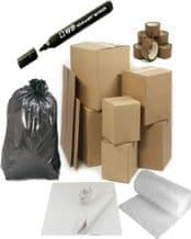 House Moving Removal Kit Pack Set - 15 Large Double Wall Boxes Bubble Wrap Tape Tissue