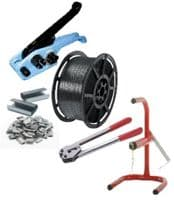 Pallet Strapping Banding Kit Pack Set - 1 Coil / Tools / Metal Seals / Coil Stand