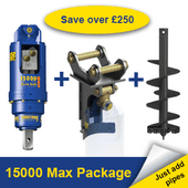 Auger Torque 15000 Max Earth Drill Package 8-15 Tonne