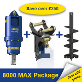 Auger Torque 8000 MAX Earth Drill Package 6-8 Tonne
