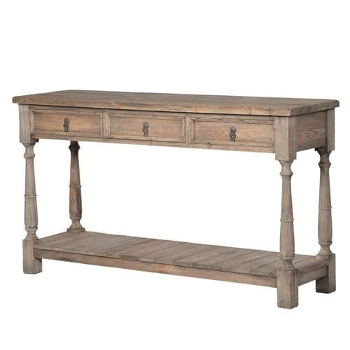 Charleston 3 Drawer Console Table