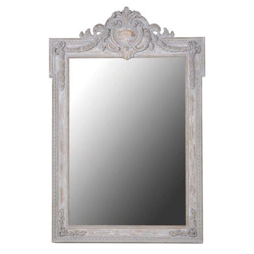Crest Top Wall  Mirror