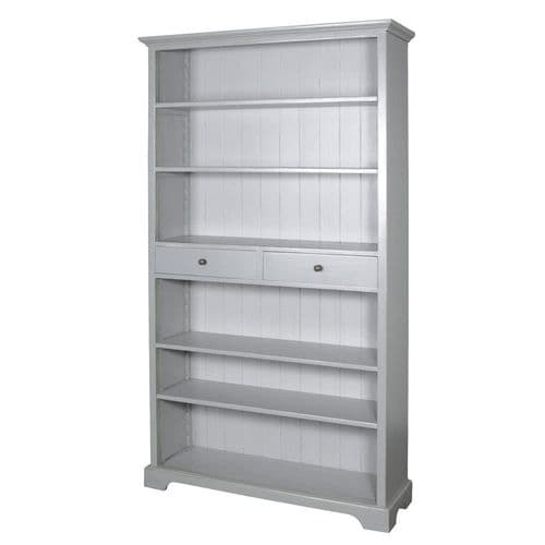 Grey Farnley  Open Bookcase with Drawers
