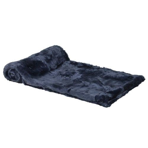 Rich Blue Faux Fur Throw