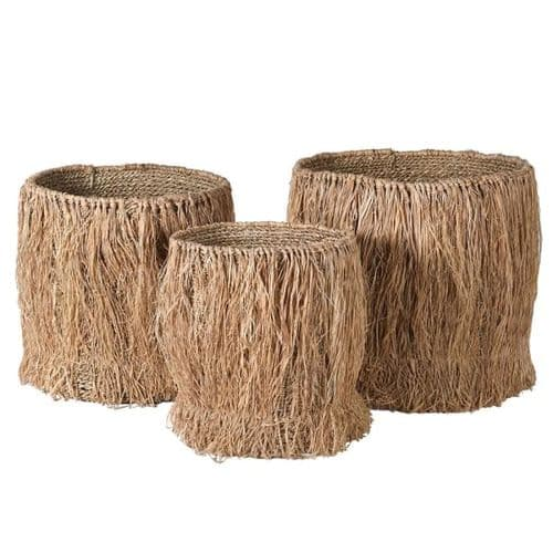 Set of 3 Seagrass Planters