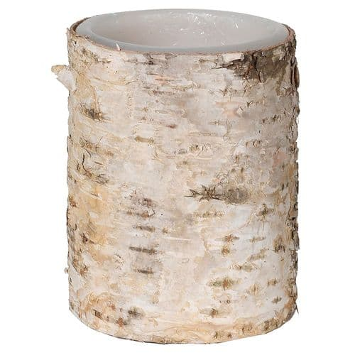 Small Led Birch Candle