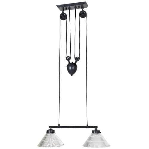 Twin Pulley Pendant Lamp
