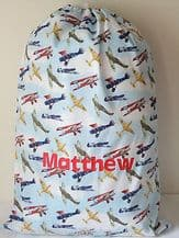 Personalised Aeroplane or Soldier Toy / Laundry Bag