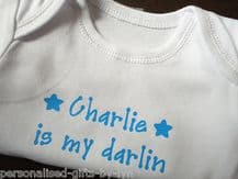 PERSONALISED BABY VEST - BODYSUIT - WITH ANY MESSAGE